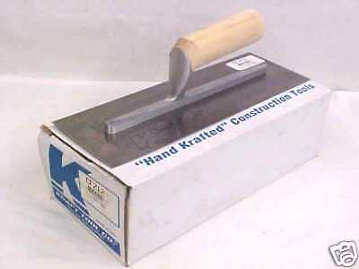 "New Kraft Tool 12"" X 4"" Concrete Finishing Trowel Cf212"