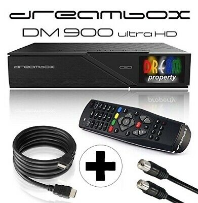 Dreambox DM900 UHD 4K E2 Linux Receiver TWIN DVB-C/T2 Dual Tuner Kabel Terrestr.