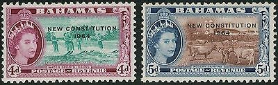 Lot 3854 - Bahamas – 1964 part set of 2 mint hinged New Constitution stamps