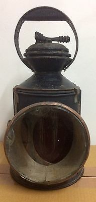 Vintage Black Railway Lantern Light Lamp