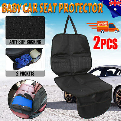 2pcs Baby Kids Children Car Booster Seat Protector Anti-Slip Mat Cover Cushion