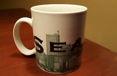 "Starbucks Skyline Series ""seattle"" City Mug 16 Oz Coffee Cup 2002 Collectors"