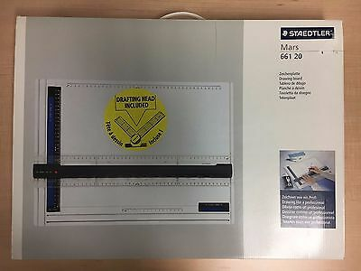 Staedtler Mars 661 20 A3 Drawing Board + 660 20 Drafting Head + Box