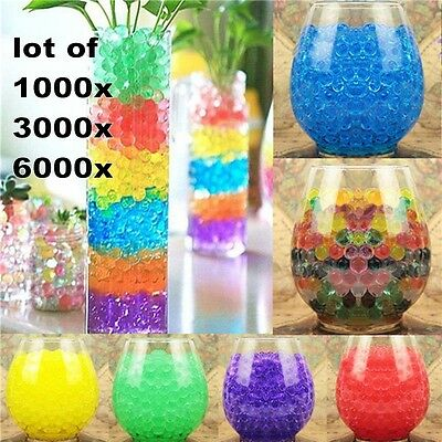 6000Pcs Crystal Soil Water Beads Jelly Ball For Vase Home Wedding Decoration