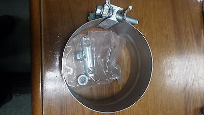 """3"""" inch preformed band exhaust clamp FREIGHTLINER VOLVO PETERBILT GM FORD MACK"""