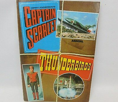 Rare Vintage 1969 Captain Scarlet And Thunderbirds Annual Gerry Anderson