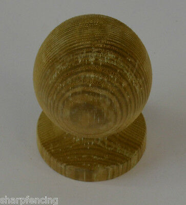 "Post Ball & Collar Green Treated Finial 3"" (75mm) with Post Finial Base & Screw"