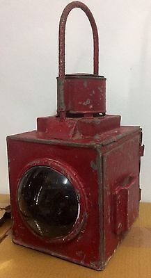 Vintage Red Railway Lantern Light Lamp