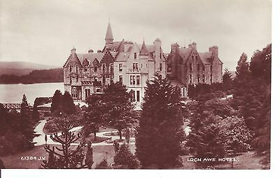 Vintage Postcard. LOCH AWE HOTEL. Unposted Real Photograph Card VGC