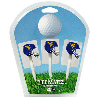 West Virginia University American Football Golf Tees - 3 Pack