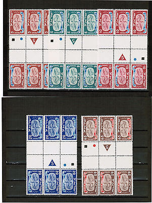 Israel 1948 New Year Tetes Beches 3 Sets Group 5 Mints Mnh