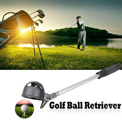 2M Telescopic Golf Accessories Shaft Scoop Golf Ball Retriever Stainless Steel