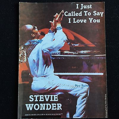 Stevie Wonder 'I Just Called To Say I Love You' sheet Music