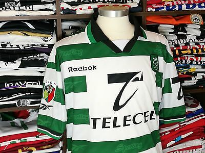 SPORTING LISBON home 1999/00 shirt - BETO #22 - Reebok-Portugal-Camisola-Jersey