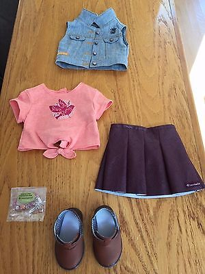 American Girl Tenney Grant Meet Outfit , Girl Of The Year, Logan  NEW !!!!