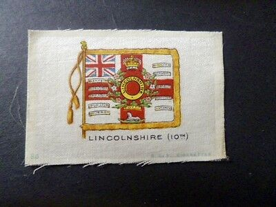 "PHILLIPS SILKS WW1 ""REGIMENTAL COLOURS AND CRESTS"" LINCOLNSHIRE 10th.."