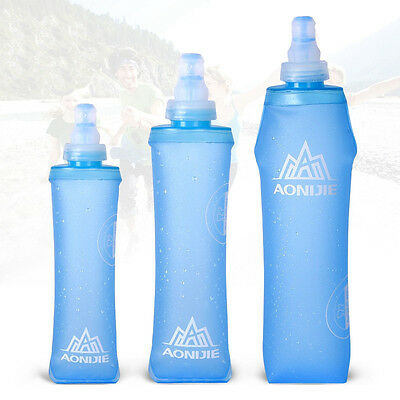 Portable Silicone Water Bottle Camping Hiking Outdoor Sport Folding Water Bags
