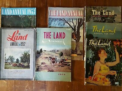 """""""The Land Annual"""" Newspaper - Set 1952, 53, 54, 55, 56, 57, 58"""