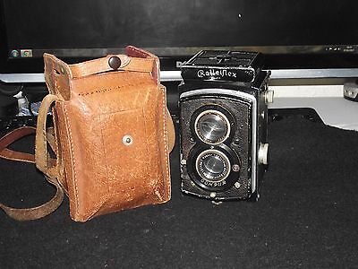 ROLLEIFLEX COMPUR WITH 75mm 3.8 TESSAR LENS AND CASE