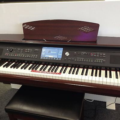 Yamaha Clavinova Cvp609Pm In Mahogany Polyester. Superb Condition With Stool