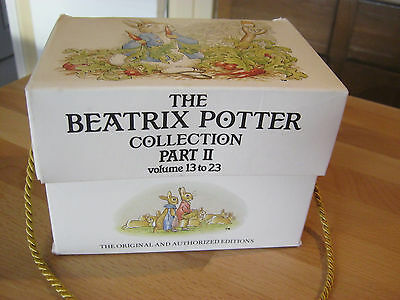 Beatrix Potter Collection Part 11, Volumes 13-23, small hardcovers in box
