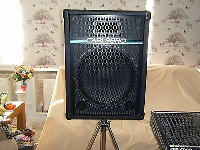 """2 x Carlsbro 15"""" Bass Speaker Cabinet with Cover"""