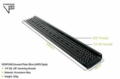 "Dovetail Plate 14inch(350mm) length. Arri style 1/4""-20, 3/8"" Hole,"