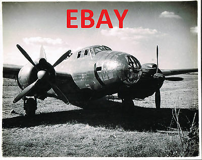 Wwii 8X10 Photograph Of Captured Japanese Bomber Aircraft On Saidor Look