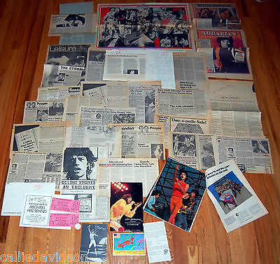 THE ROLLING STONES 1981 Tattoo You Concert Tour 22pc Ad Article Invitation Lot