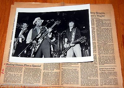 THE ROLLING STONES World's Greatest Rock n Roll Party 1981 Photo + Article
