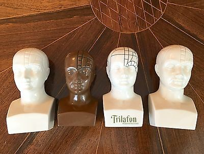 """AUTHENTIC 4 3/4 - 5 1/4"""" Antique PHRENOLOGY MEDICAL HEAD 1 African American RARE"""