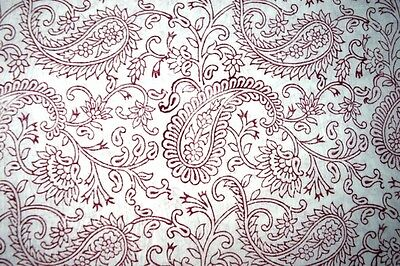 5 Yards Hand Block Print Fabric Indian 100% Cotton Natural Vegetable Color 080