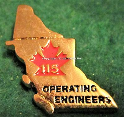 OPERATING ENGINEERS UNION LOCAL 115 BRITISH COLUMBIA Pin