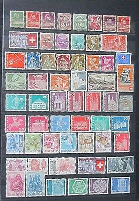 Switzerland Nice Collection of 60 Different used stamps Ref J1