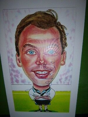Lovely Certified Signed Caricature Of David Platt