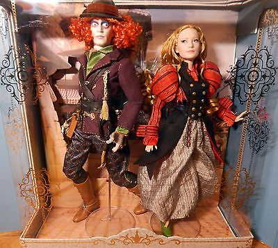 Disney Limited Edition Alice And Mad Hatter Doll Set - 1 of Only 450 Worldwide