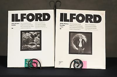 Ilford Photo Paper 11x14 Multigrade IV RC Deluxe and FB Fiber  2 Packs 50 sheets