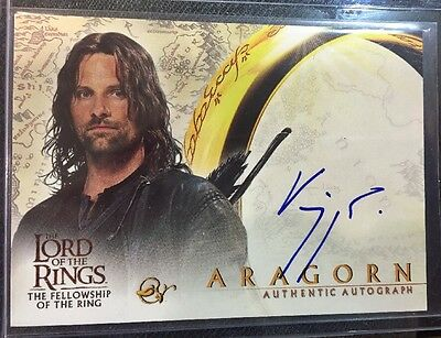 "Lord of the Rings Fellowship Viggo Mortensen ""Aragorn"" Auto Autograph Card"