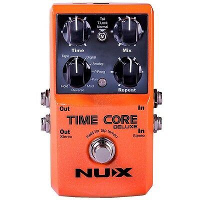 NUX Time Core Deluxe Multi Delay Pedal - 8 Delays und Looper