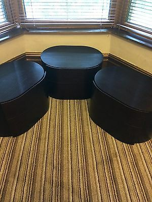 Pianca Italian Mahogany side tables - COLLECTION ONLY