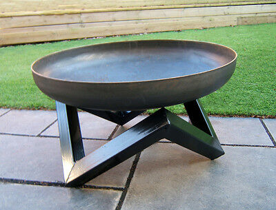 Steel Outdoor Garden Bowl Patio Fire Pit 60cm BBQ Log Burner