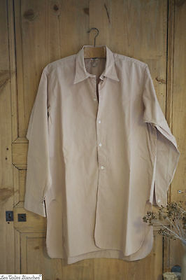 Vintage French POPELIN COTTON men's shirt c 1930