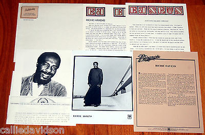 RICHIE HAVENS 6pc Photo Press Kit Lot 1976-1979 The End Of The Beginning