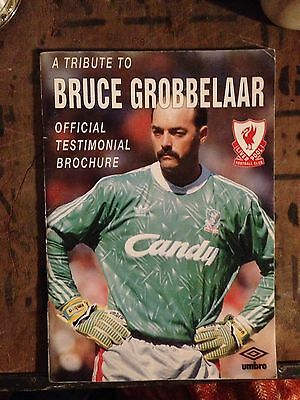 Bruce Grobbelaar Testimonial Match Day Programme With Autographs.RARE