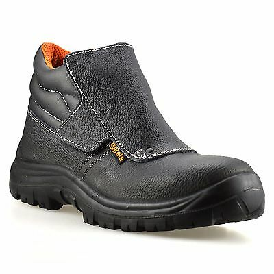 Mens Leather Waterproof Welders Safety Steel Toe Cap Work Ankle Boots Shoes Size