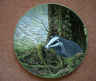 Royal Doulton 'The Badger On His Evening Prowl' china Plate-1988-Bradex-No 6157A