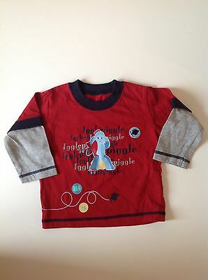 ITNG Baby Boys Long Sleeved T-shirt Ft Igglepiggle Age 6 - 9 Months