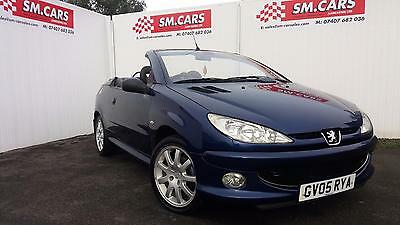 2005 05 PEUGEOT 206CC 1.6 HDi 110 CONVERTIBLE ALLURE,SUPERB LOW MILEAGE EXAMPLE.