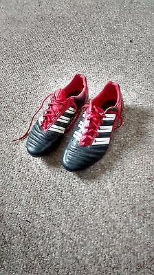 Adidas Predator Adipower Football Boots. Red/Black  U.K. Size 9 RARE