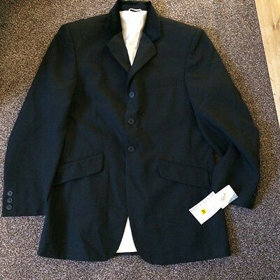 Brand New Equetech Mens Competition Jacket - Black with velvet collar - Size 40